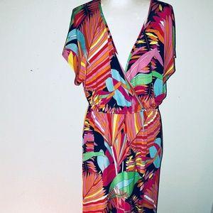 Trina Turk retro print maxi dress  size 6
